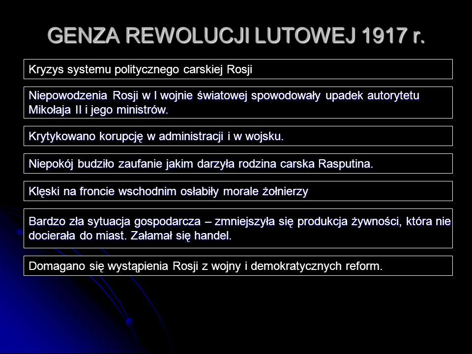GENZA REWOLUCJI LUTOWEJ 1917 r.
