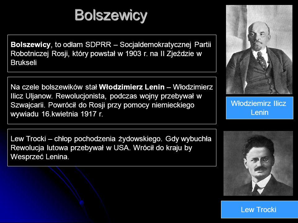 Bolszewicy Bolszewicy, to odłam SDPRR – Socjaldemokratycznej Partii