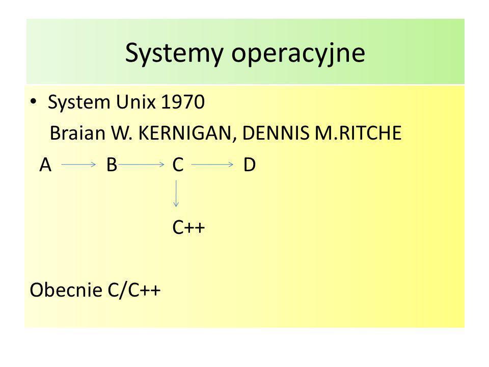 Systemy operacyjne System Unix 1970