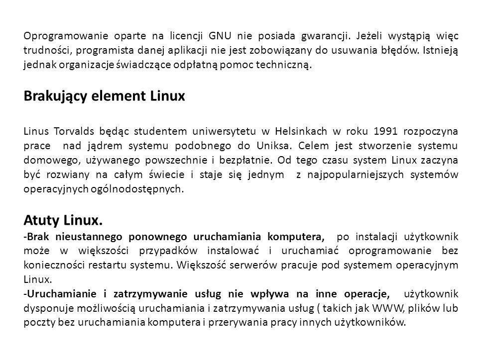 Brakujący element Linux