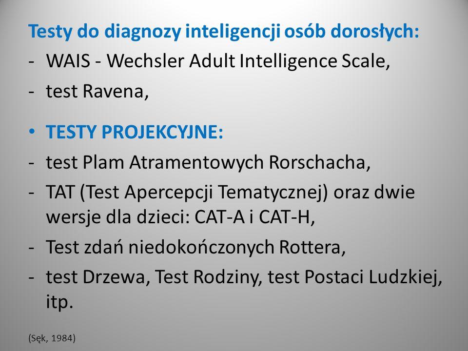 Testy do diagnozy inteligencji osób dorosłych: