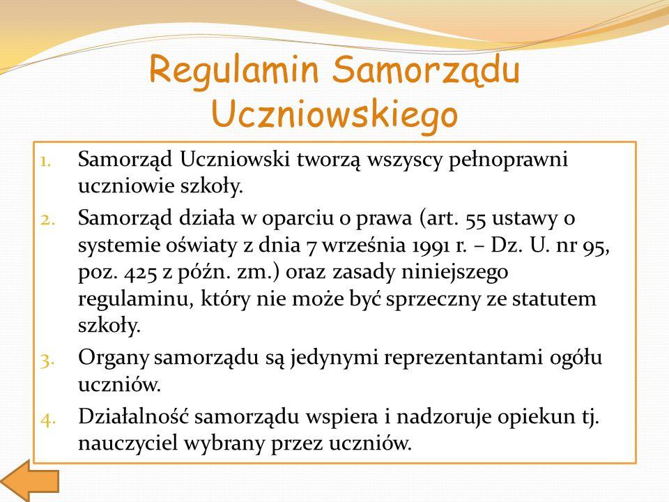 Regulamin Samorządu Uczniowskiego