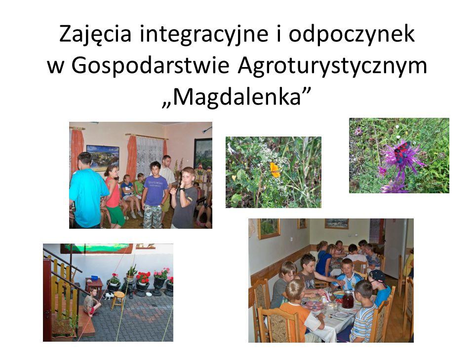 """Zajęcia integracyjne i odpoczynek w Gospodarstwie Agroturystycznym """"Magdalenka"""
