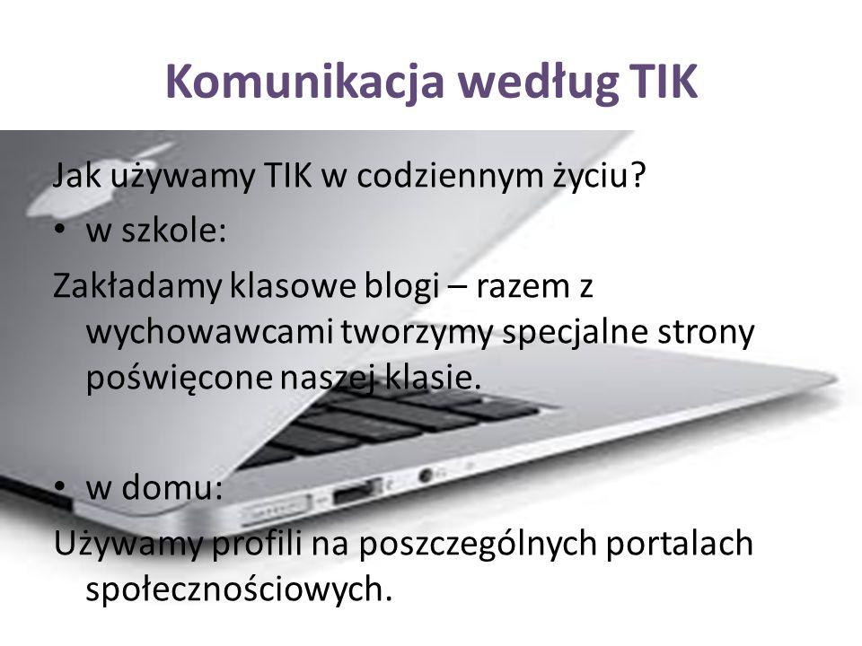 Komunikacja według TIK