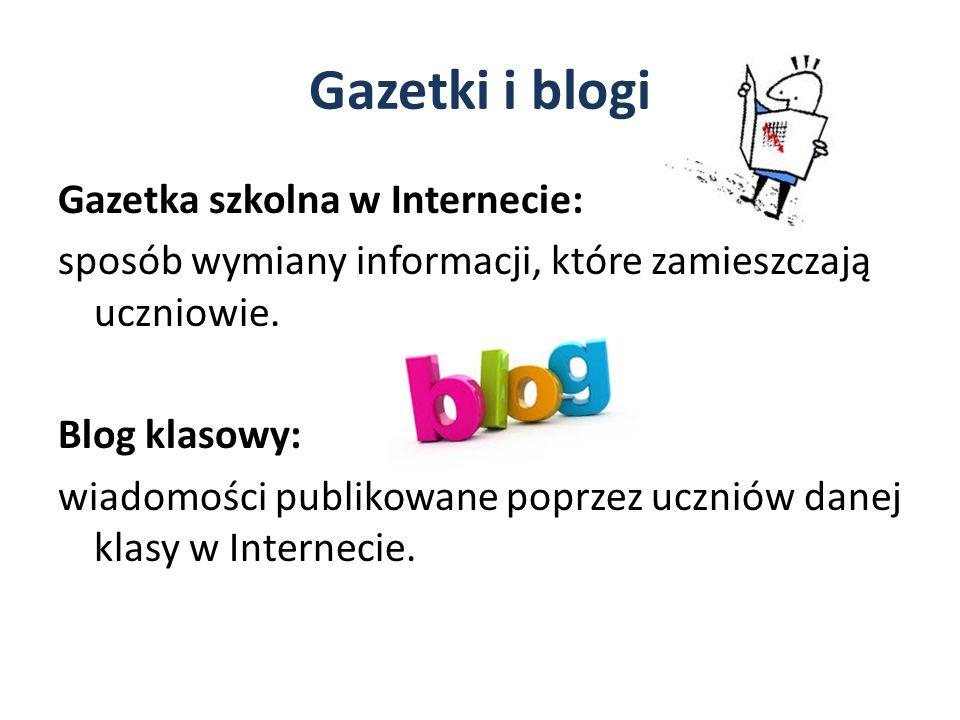 Gazetki i blogi