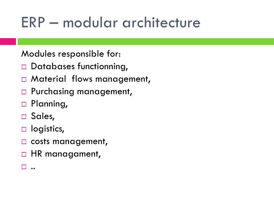 ERP – modular architecture