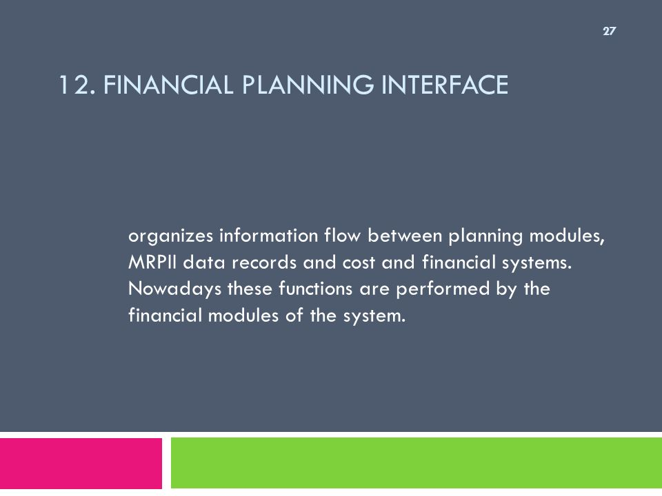 12. Financial Planning Interface