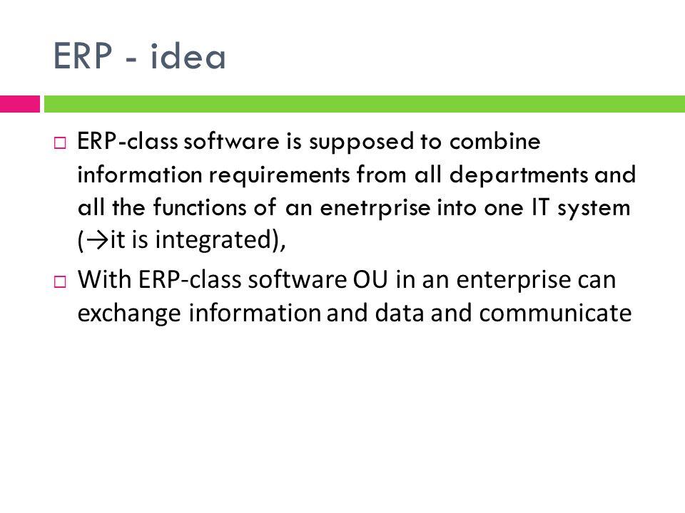 ERP - idea