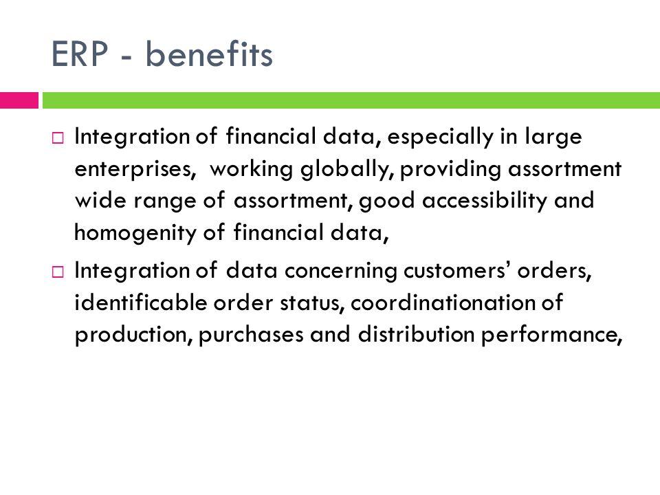 ERP - benefits