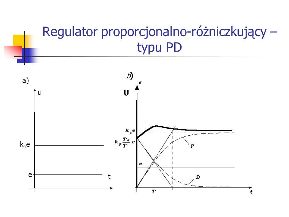 Regulator proporcjonalno-różniczkujący – typu PD