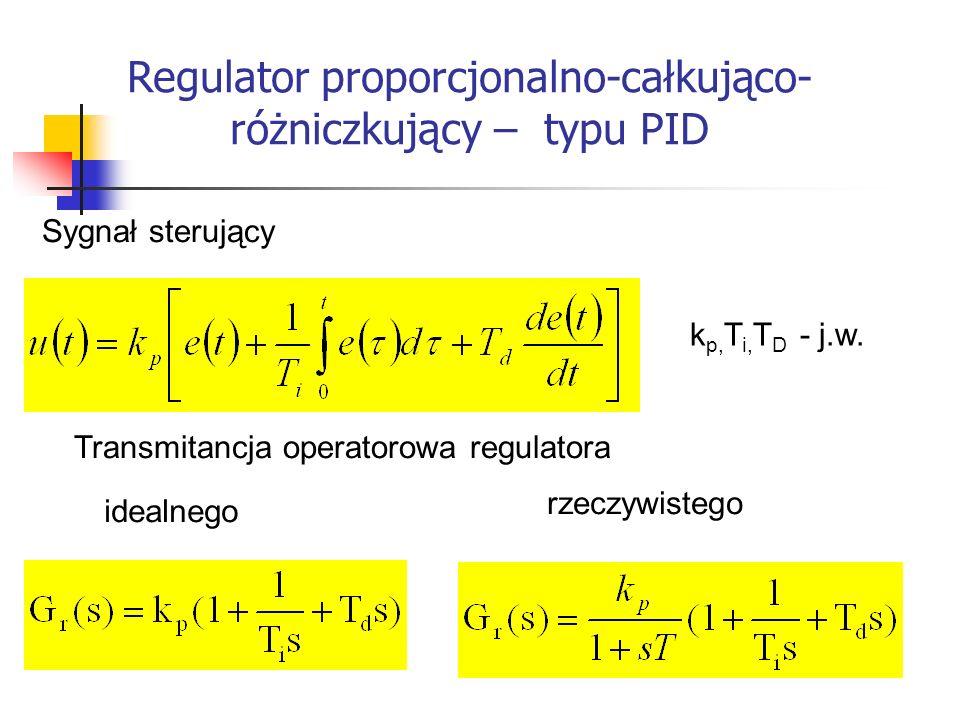 Regulator proporcjonalno-całkująco- różniczkujący – typu PID