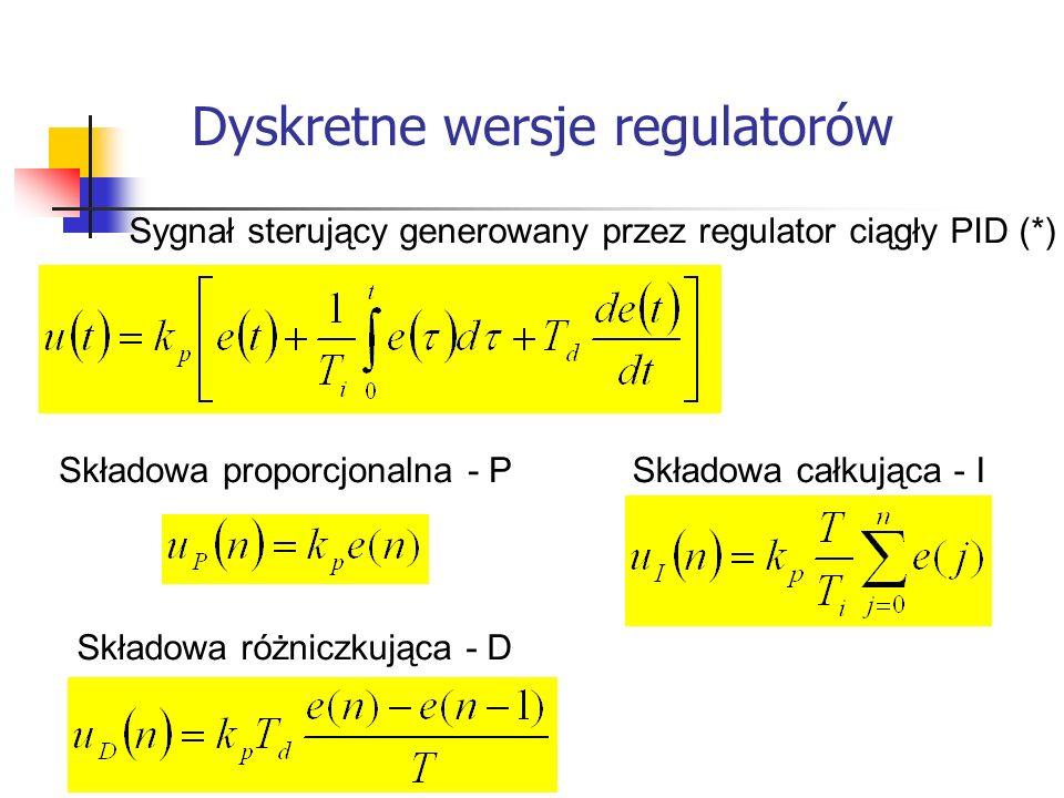 Dyskretne wersje regulatorów