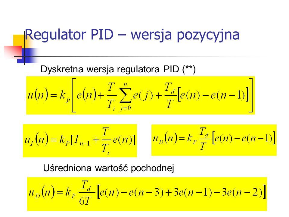 Regulator PID – wersja pozycyjna