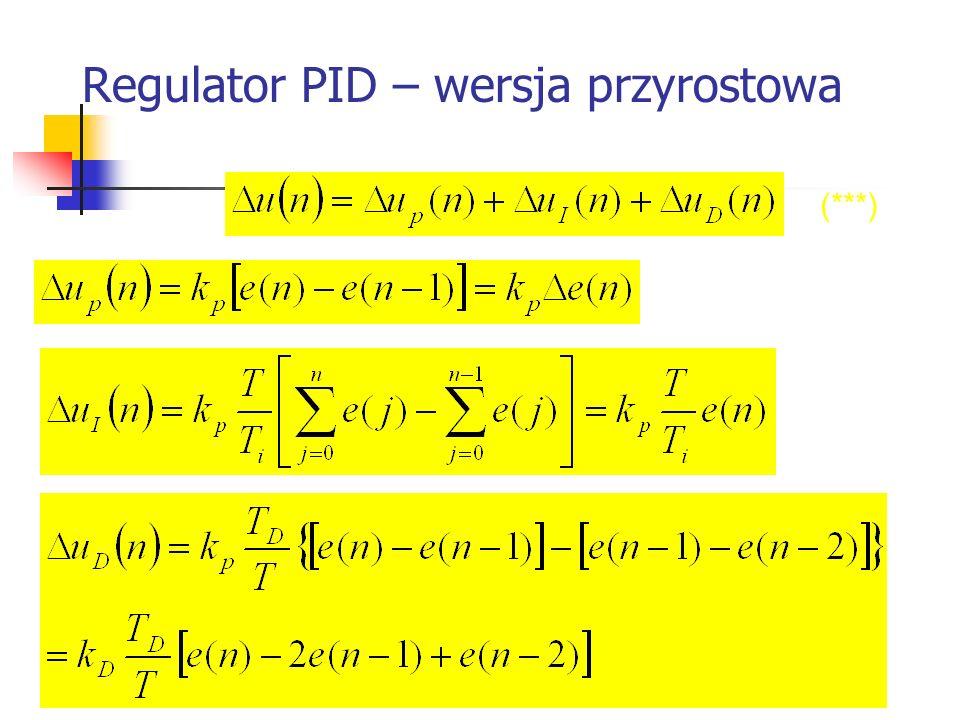 Regulator PID – wersja przyrostowa