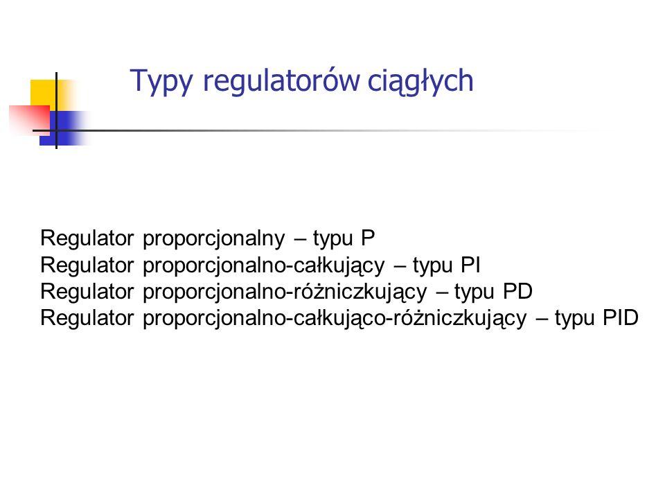 Typy regulatorów ciągłych