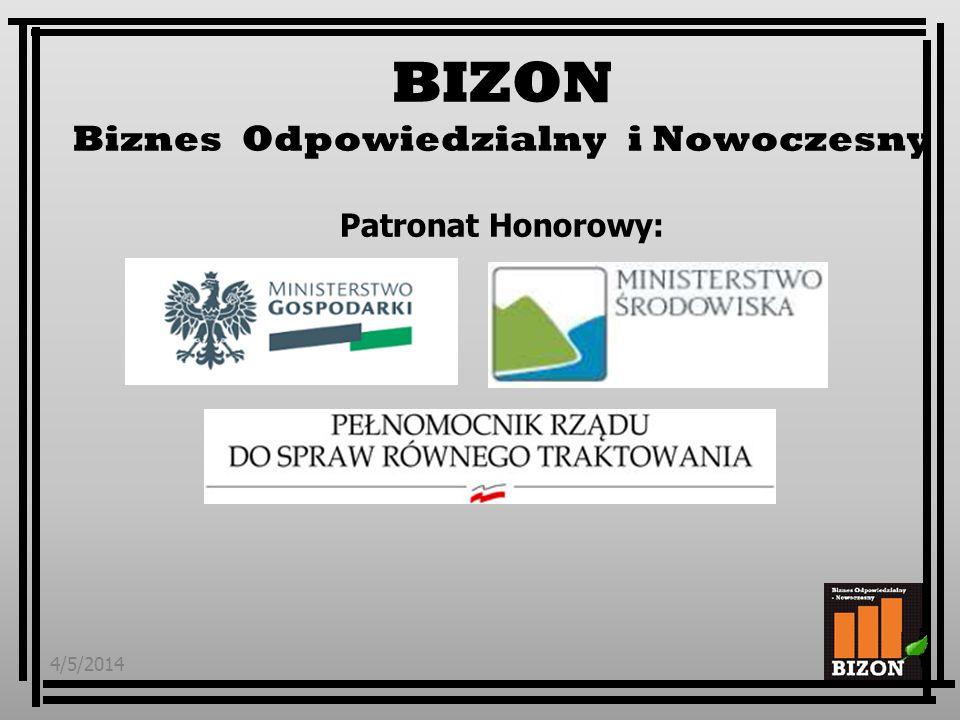BIZON Biznes Odpowiedzialny i Nowoczesny Patronat Honorowy: