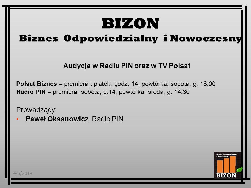 Audycja w Radiu PIN oraz w TV Polsat
