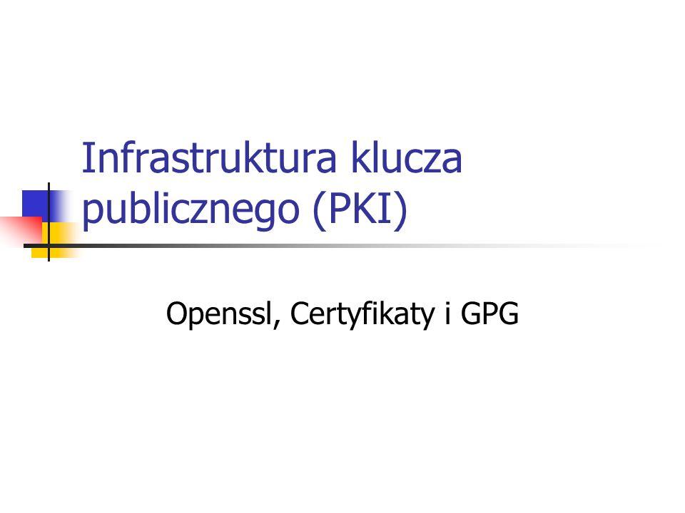 Infrastruktura klucza publicznego (PKI)