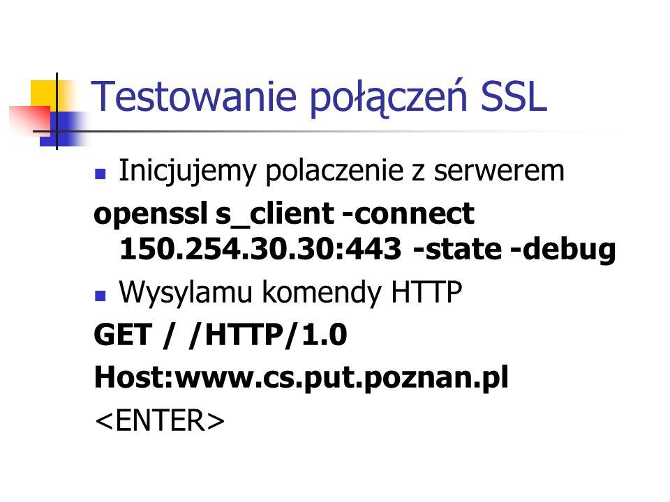Testowanie połączeń SSL