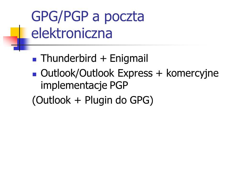 GPG/PGP a poczta elektroniczna