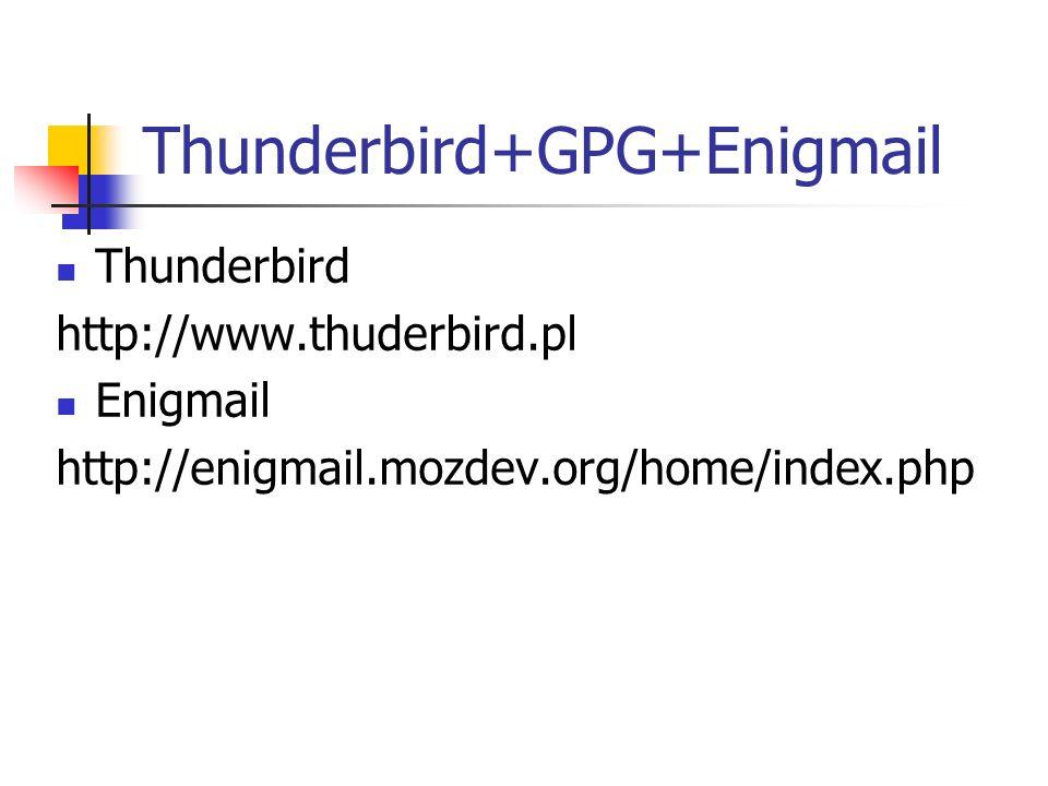 Thunderbird+GPG+Enigmail