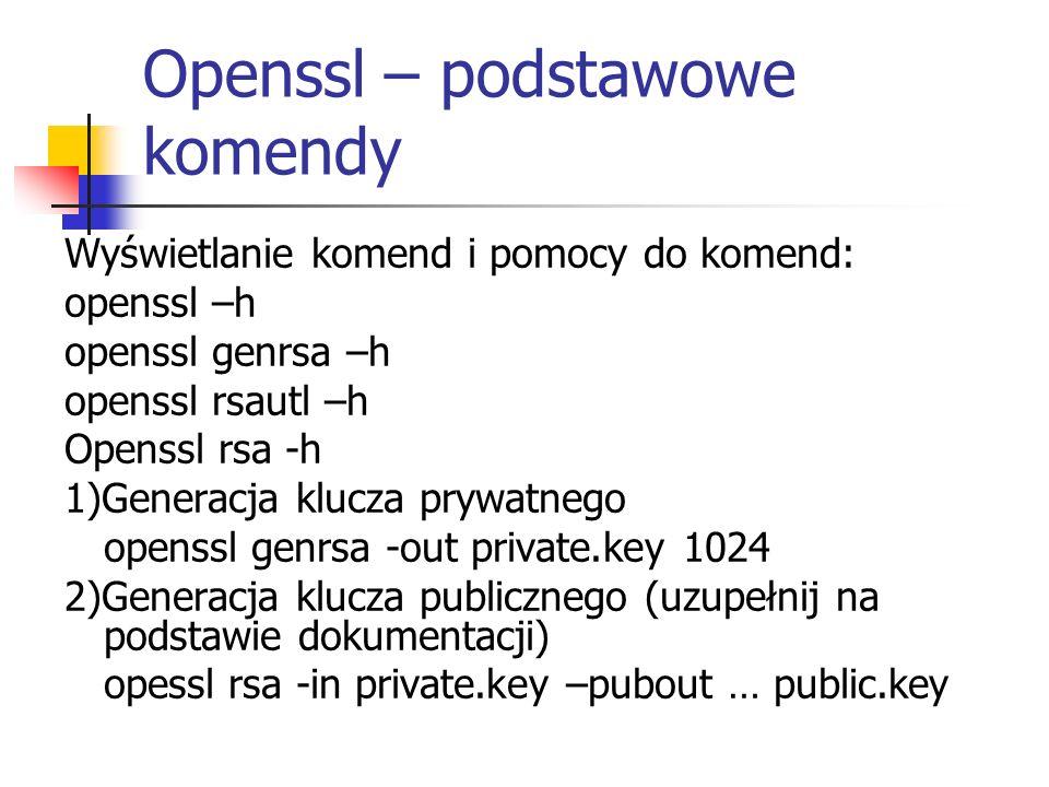 Openssl – podstawowe komendy