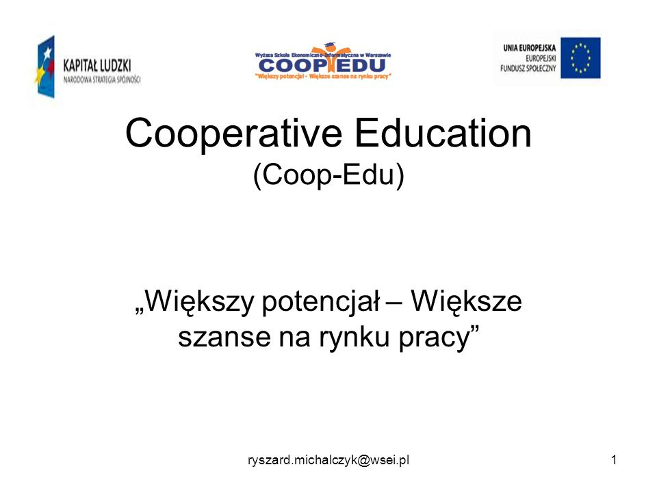 Cooperative Education (Coop-Edu)