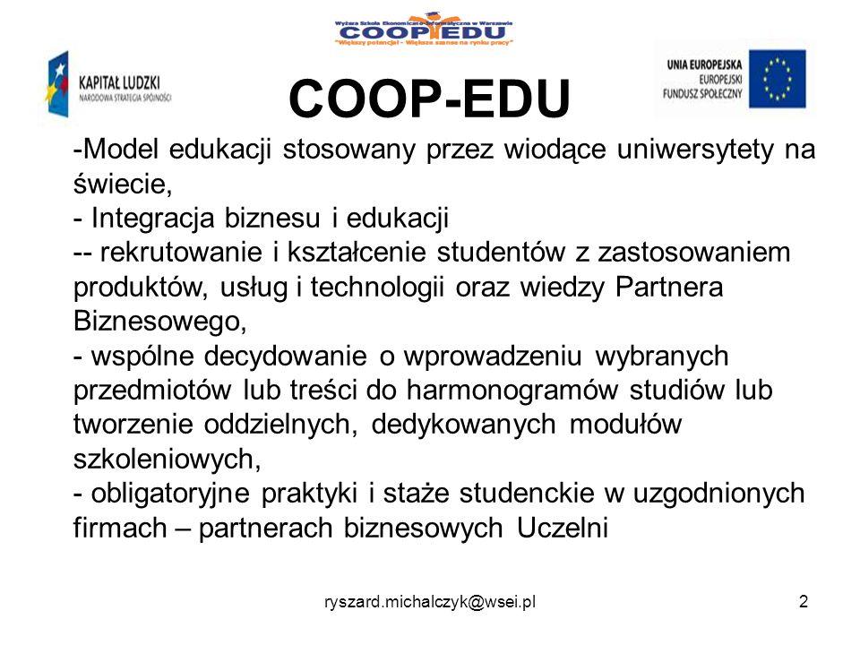 COOP-EDU Model edukacji stosowany przez wiodące uniwersytety na świecie, Integracja biznesu i edukacji.