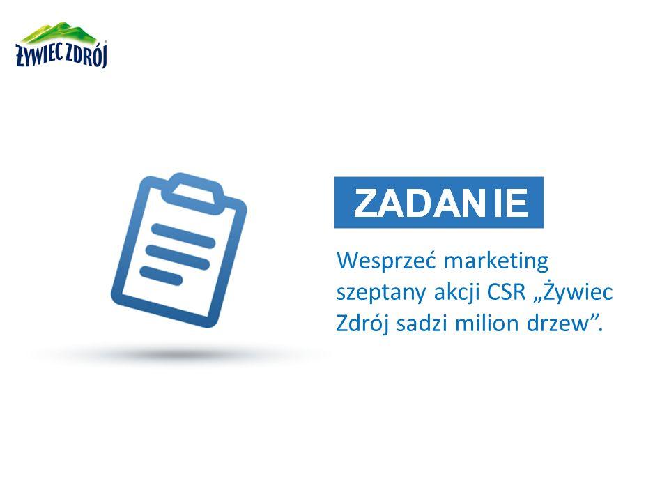 """Wesprzeć marketing szeptany akcji CSR """"Żywiec Zdrój sadzi milion drzew ."""
