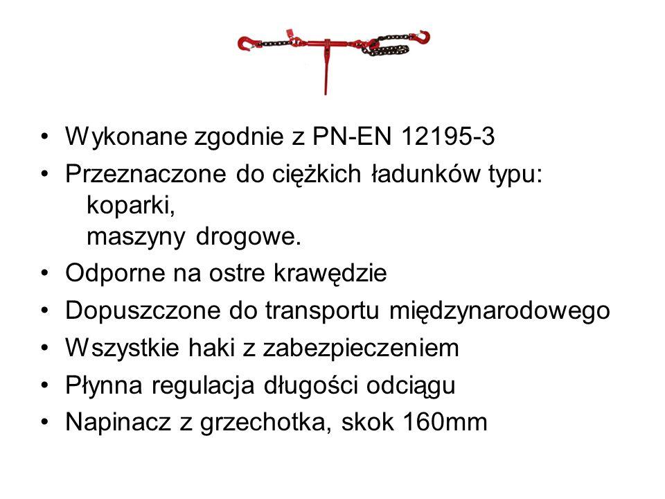 Wykonane zgodnie z PN-EN 12195-3