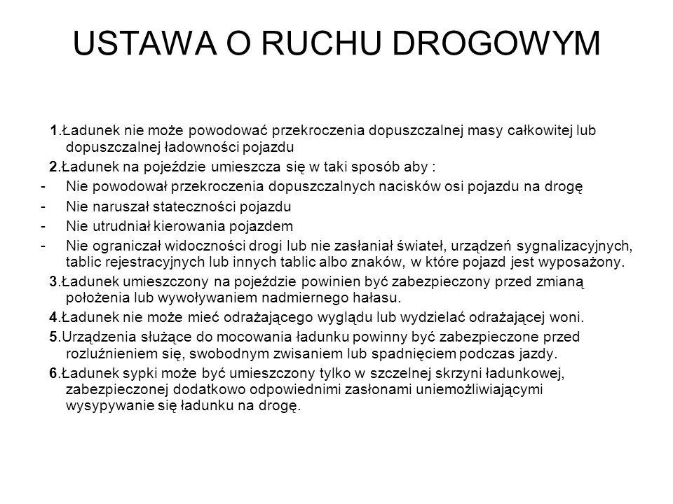USTAWA O RUCHU DROGOWYM