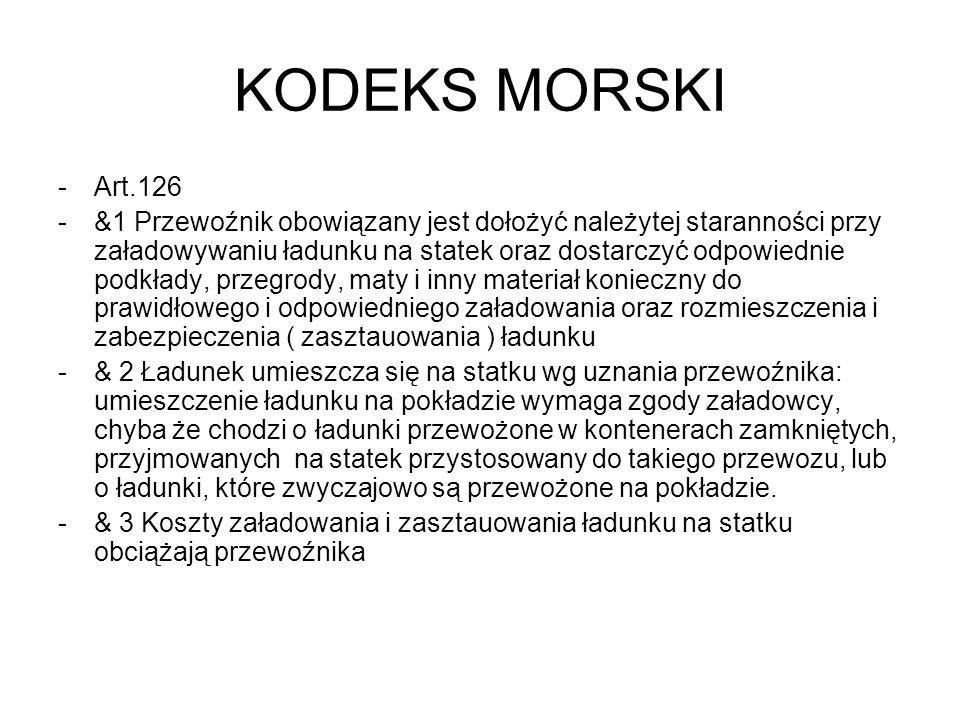 KODEKS MORSKI Art.126.