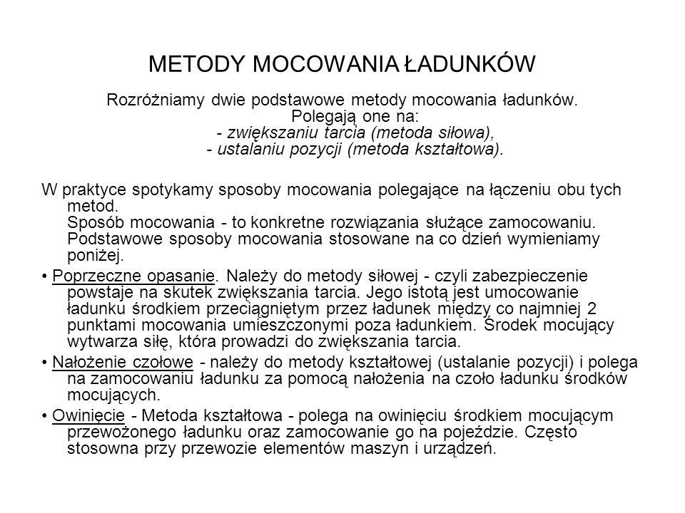 METODY MOCOWANIA ŁADUNKÓW