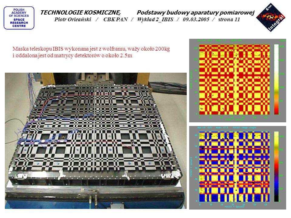 TECHNOLOGIE KOSMICZNE, Podstawy budowy aparatury pomiarowej Piotr Orleański / CBK PAN / Wykład 2_IBIS / 09.03.2005 / strona 11