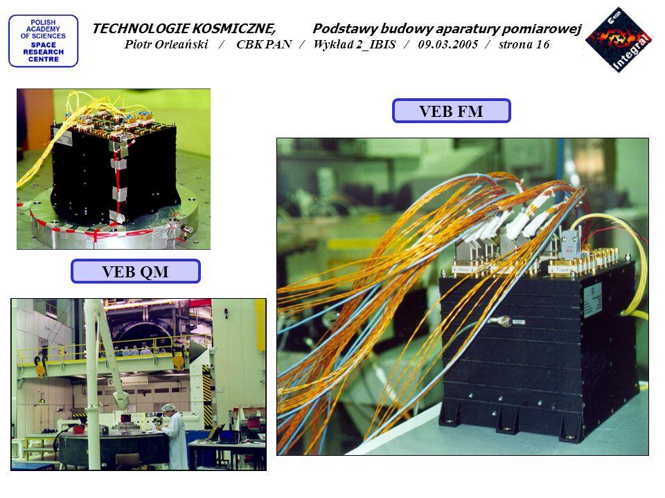 TECHNOLOGIE KOSMICZNE, Podstawy budowy aparatury pomiarowej Piotr Orleański / CBK PAN / Wykład 2_IBIS / 09.03.2005 / strona 16