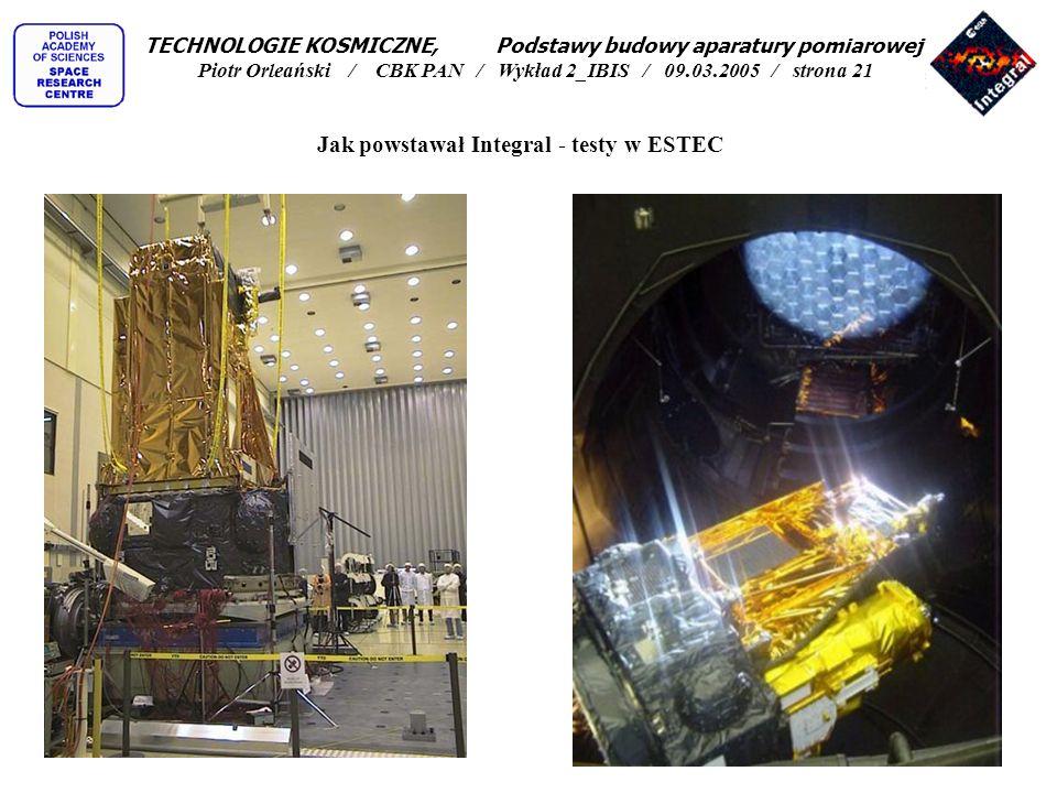 Jak powstawał Integral - testy w ESTEC