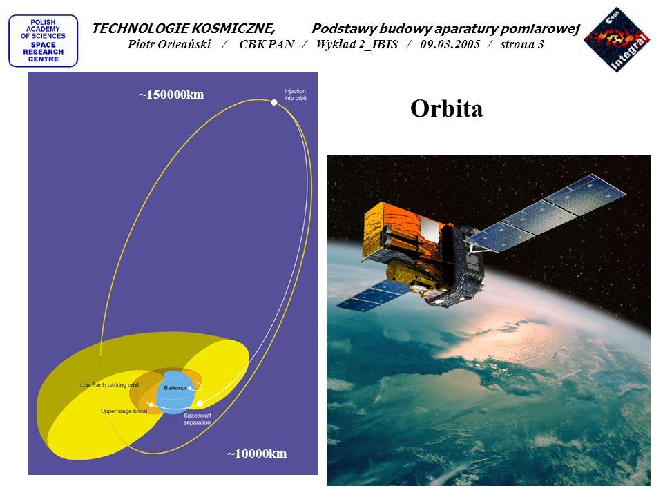 TECHNOLOGIE KOSMICZNE, Podstawy budowy aparatury pomiarowej Piotr Orleański / CBK PAN / Wykład 2_IBIS / 09.03.2005 / strona 3