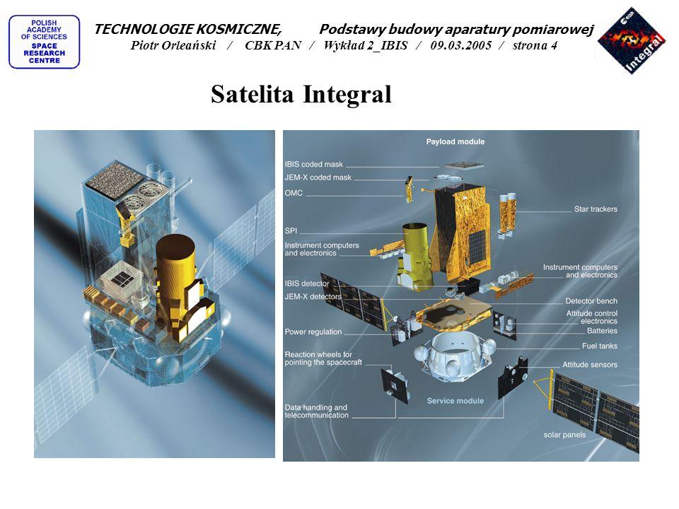 TECHNOLOGIE KOSMICZNE, Podstawy budowy aparatury pomiarowej Piotr Orleański / CBK PAN / Wykład 2_IBIS / 09.03.2005 / strona 4