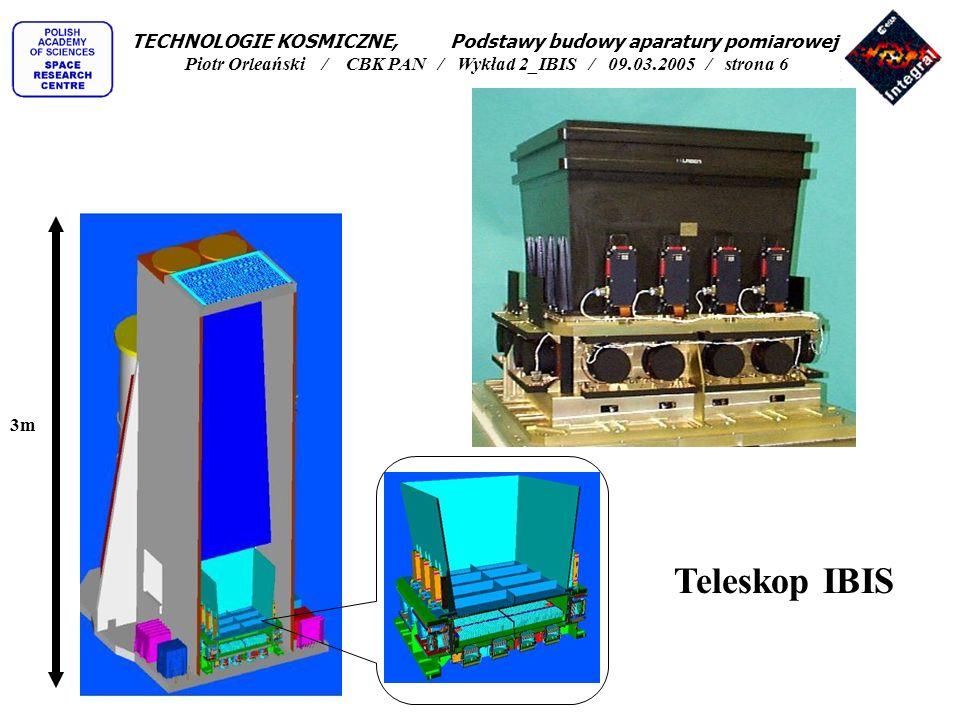 TECHNOLOGIE KOSMICZNE, Podstawy budowy aparatury pomiarowej Piotr Orleański / CBK PAN / Wykład 2_IBIS / 09.03.2005 / strona 6