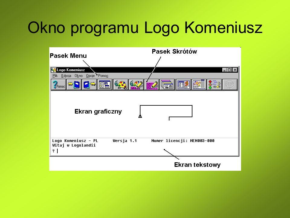 Okno programu Logo Komeniusz