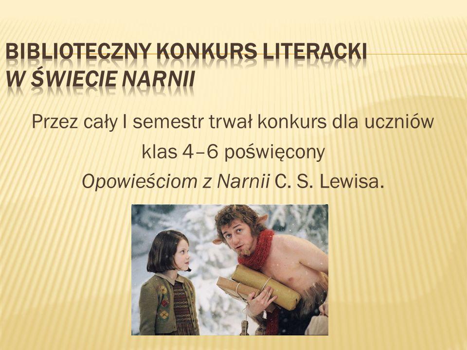 Biblioteczny konkurs literacki W świecie Narnii