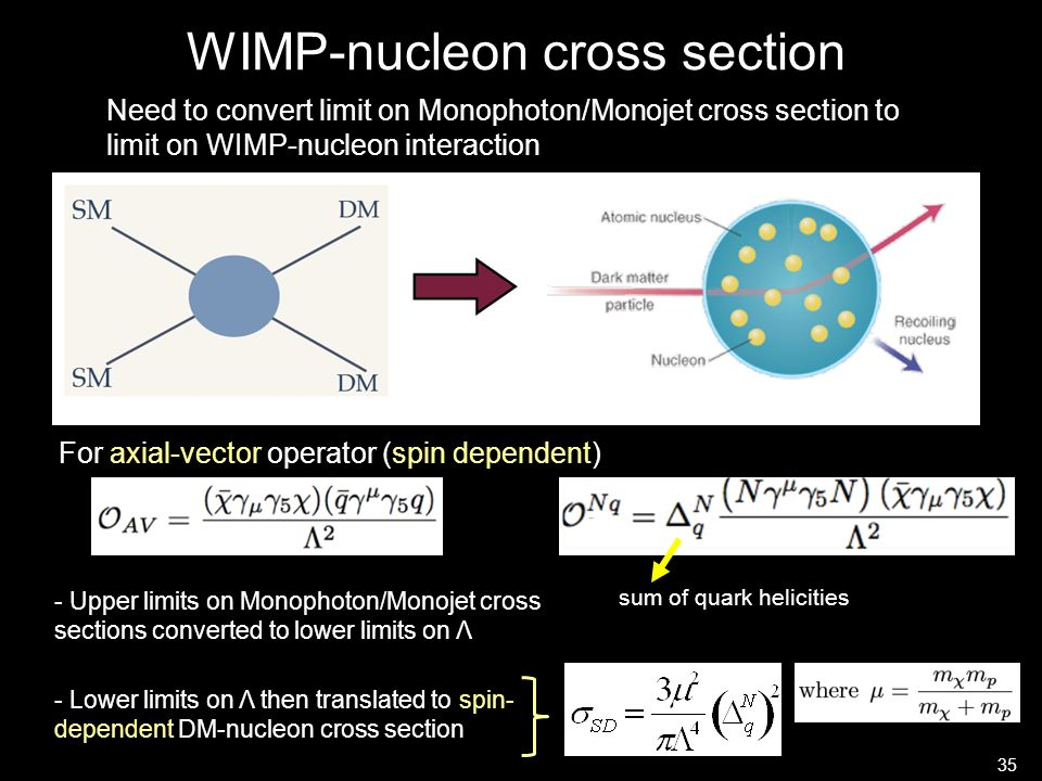 WIMP-nucleon cross section