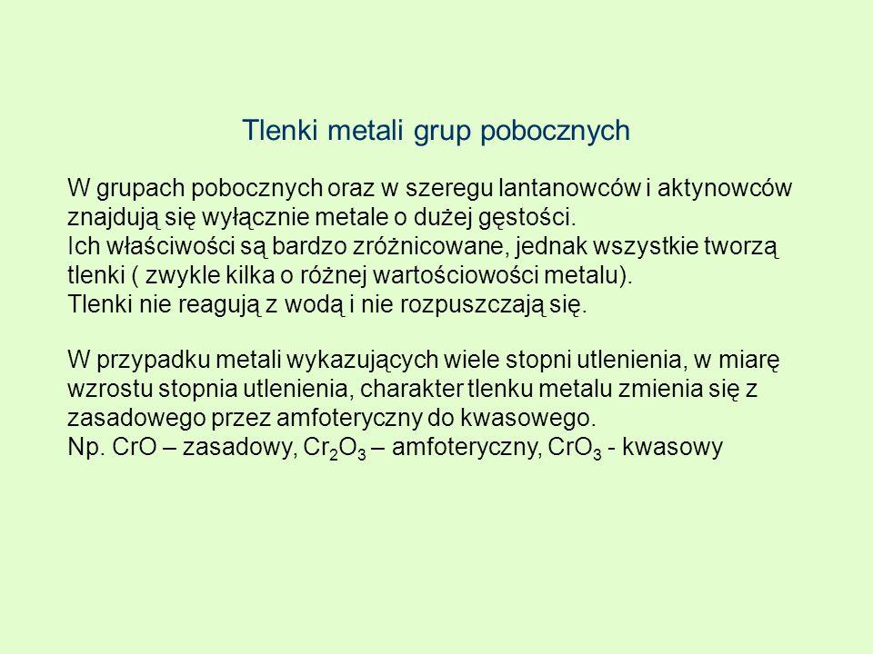 Tlenki metali grup pobocznych