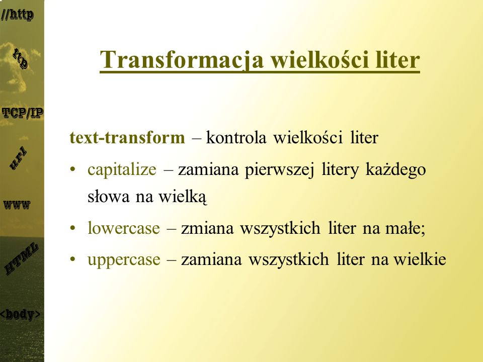 Transformacja wielkości liter
