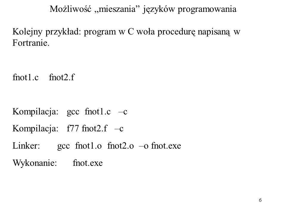 """Możliwość """"mieszania języków programowania"""