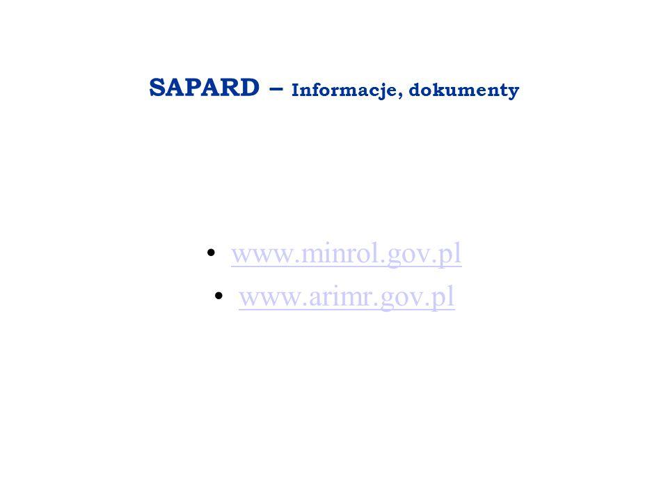 SAPARD – Informacje, dokumenty