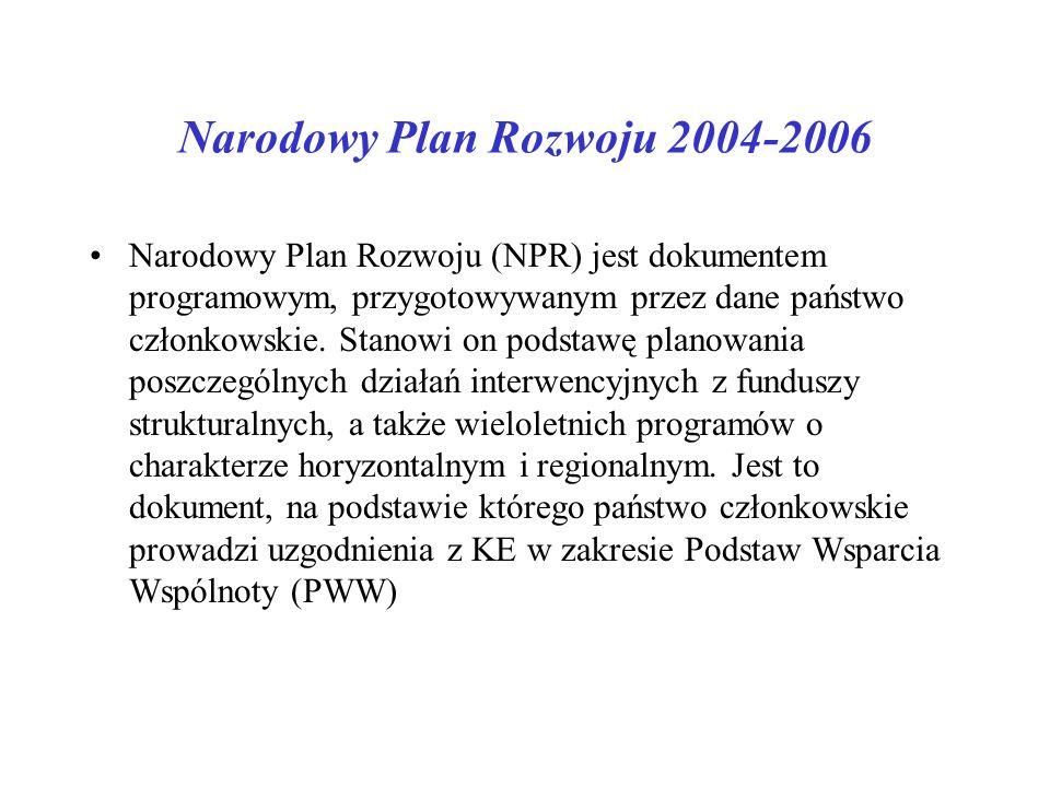 Narodowy Plan Rozwoju 2004-2006