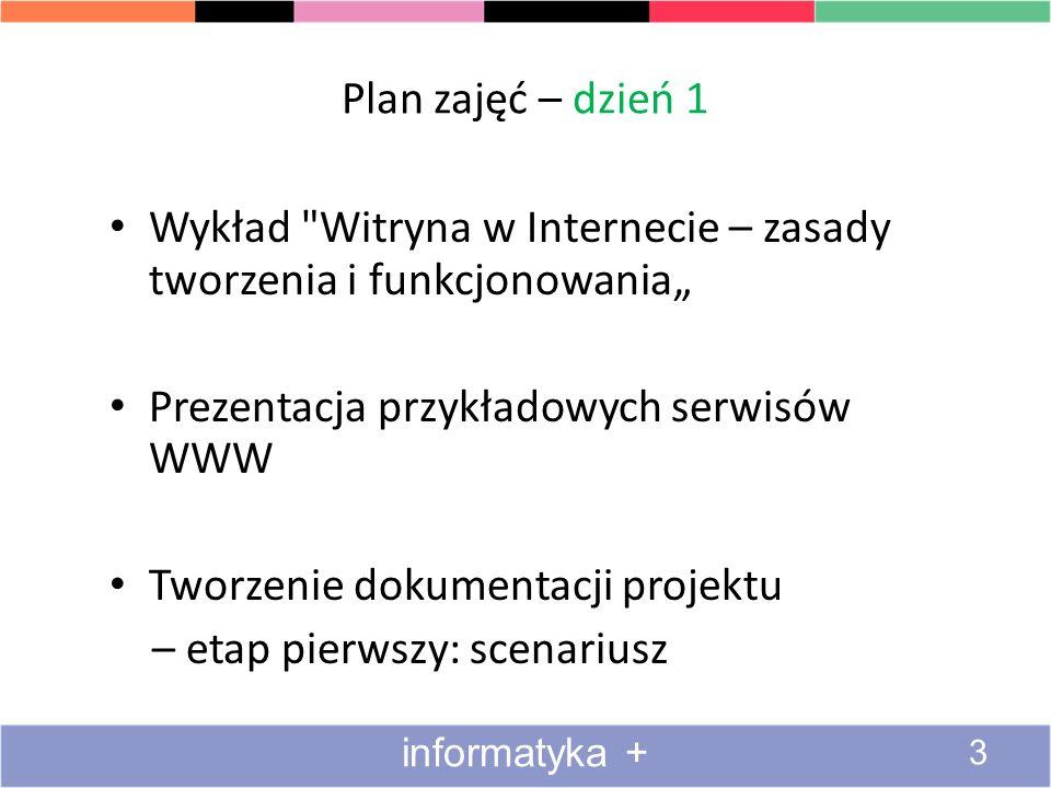 """Wykład Witryna w Internecie – zasady tworzenia i funkcjonowania"""""""