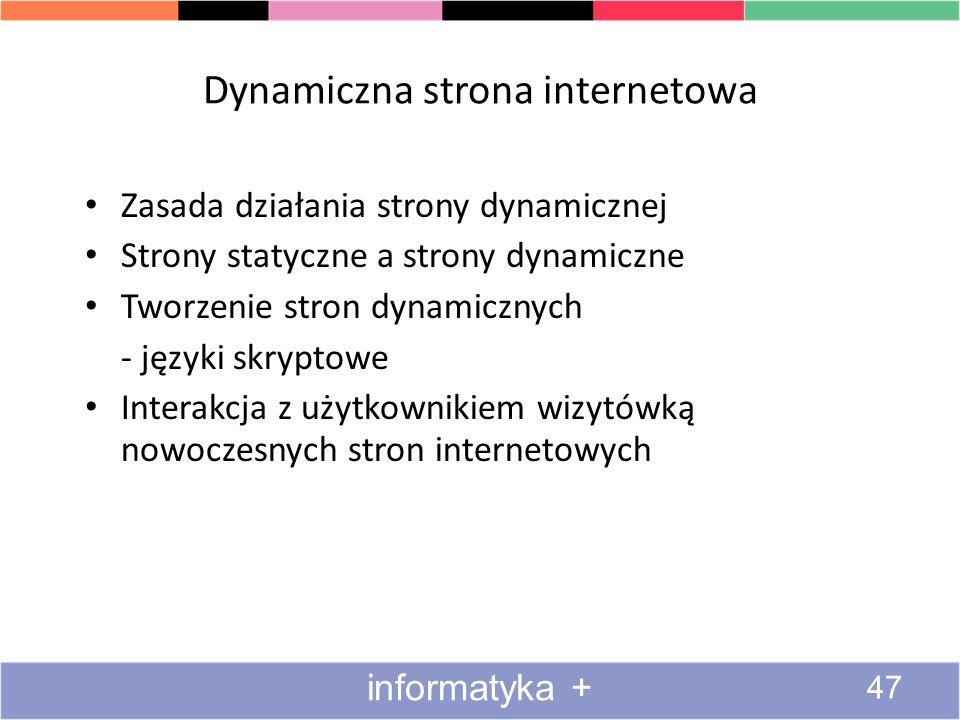 Dynamiczna strona internetowa