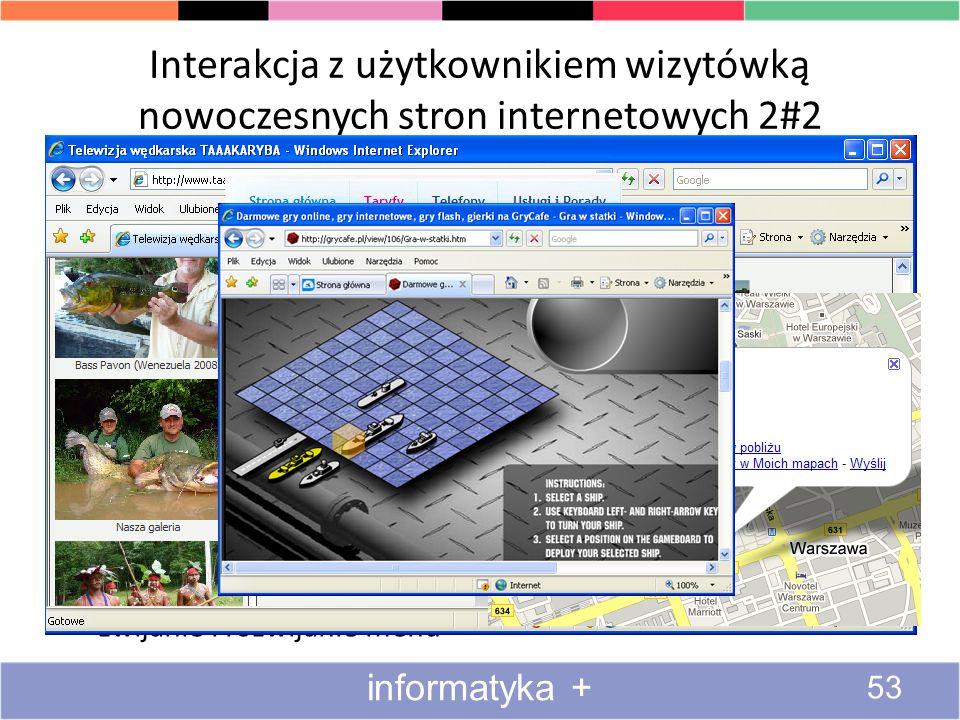 Interakcja z użytkownikiem wizytówką nowoczesnych stron internetowych 2#2